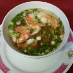 soupe de nouille aux crevettes