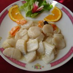 noix de saint-jacques auc légumes